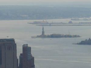 widok z Empire State Building - Statua Wolności
